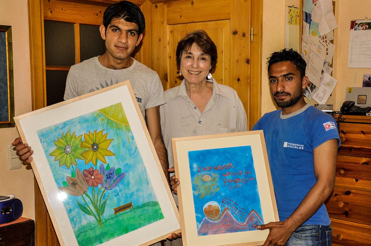 Kunstmeile Trostberg Schülerprojekt Afghanen1