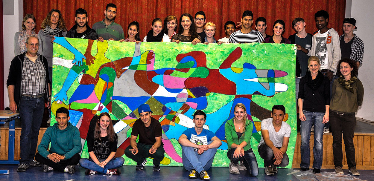 Kunstmeile Trostberg Schülerprojekt Flüchtlinge1