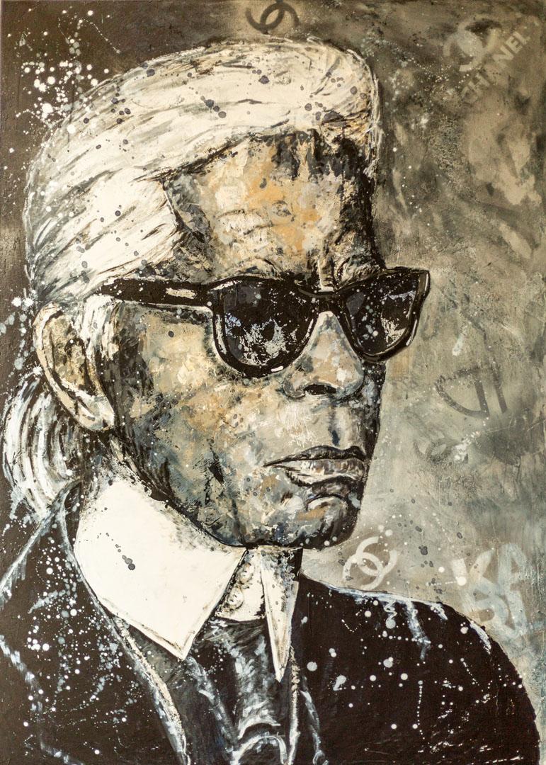Silke von Clarmann: Karl  Mixed Media; 140 x 100 cm; 1.450,00 €   geboren in München; Studium der Kunstgeschichte in Augsburg; danach BWL in München und Ulm; lebt und arbeitet in Erharting