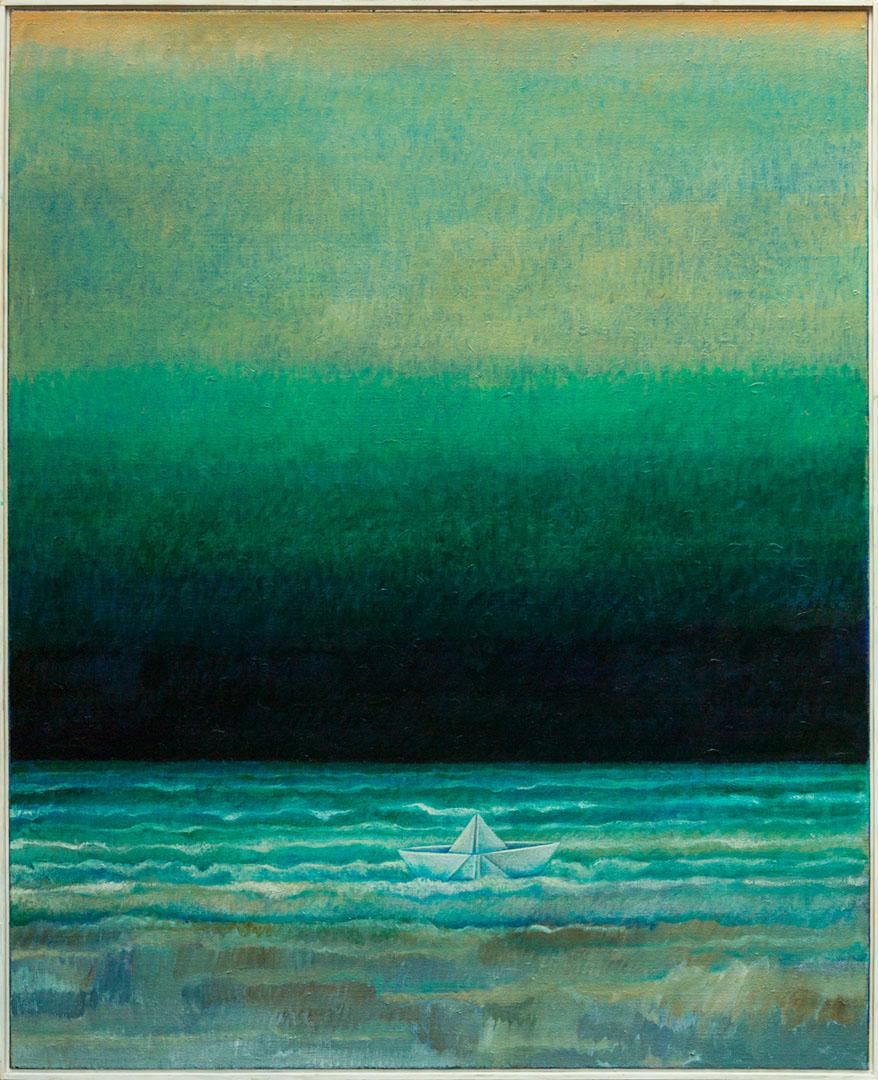 Alto Hien: Leben in Zeiten von Corona | Öl auf Leinwand; 160 x 130 cm; 3.600,00 € | 1941 geboren in München; 1960–1965 Studium Grafik & Malerei an der Akademie der Bildenden Künste, München; lebt in Perach (AÖ)