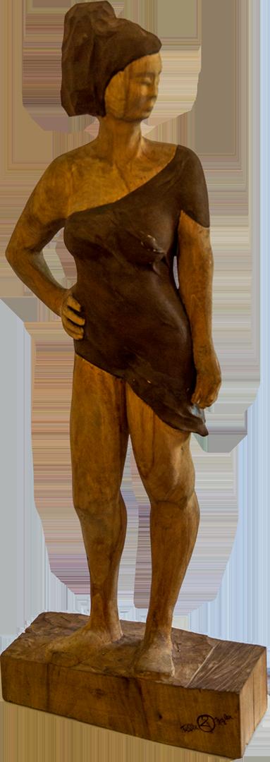 Felix Igler: The Lady | Holz/Rost; 120 x 43 x 17 cm; 3.000,00 € | geboren in Hallein, aufgewachsen in Faistenau; 2008-2012 Fachschule für Bildhauerei an der HTL Hallein; 2011 Stipendium für die Salzburger Sommer-Akademie für Bildende Künste; 2012-2014 Aufbaulehrgang für Produkt und Systemdesign an der HTL Hallein; 2015 Teilnahme am Riedersbacher Stahlsymposium; 2015 Bildhauer beim Restaurator Heinrich Helminger, Meisterklasse für Bildhauerei an der HTL Hallein; seit 2016 Bildhauer-Meister; Ausstellungen in Österreich und Deutschland