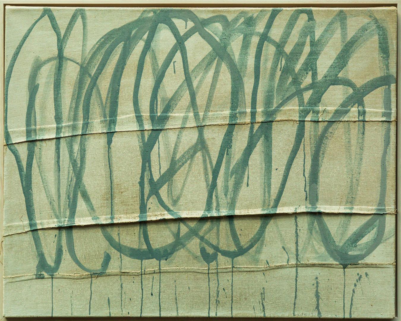 Isa Jungblut Isa: Lines | Acryl auf Leinwand; 80 x 100 cm; 800,00 €; 1964 geboren in Neuwied/Rhein; Studium Gemälderestaurierung in Florenz; lebt seit 2000 in Bayern