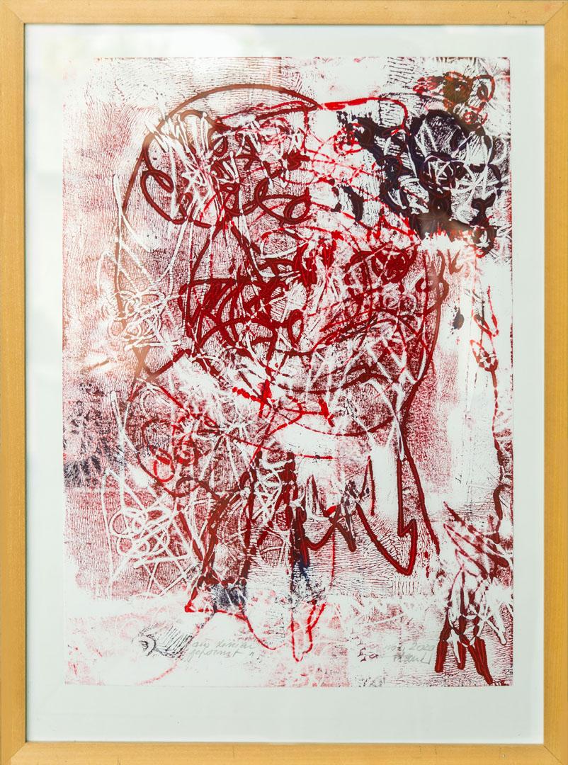 Johann Plank: ein ganz wunderbares Versteck | Abdruck von Holzplatten E.A.; 60 x 42 cm; 600,00 € | * 1955 in Engelsberg; Kurse in Aquarellmalerei, Aktzeichnen, Acryl-Malerei, Grafik (Lithographie, Holzschnitt, Radierung); zahlreiche Ausstellungen; lebt in Garching/Alz