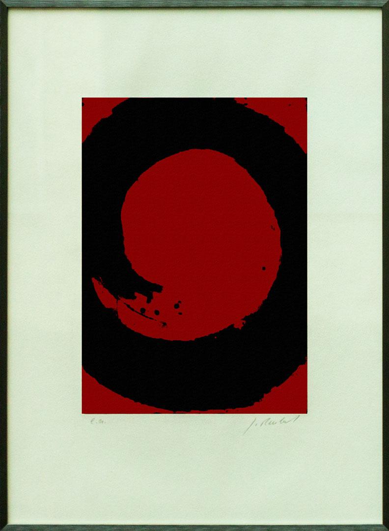 Gudrun Reubel: Kreissegmente I | Radierung; 70 x 50 cm; 400,00 € | 1944 geboren in Oberndorf;  freischaffende Künstlerin mit eigener Radierwerkstatt; zahlreiche Einzel- und Gruppenausstellungen; lebt in Fridolfing