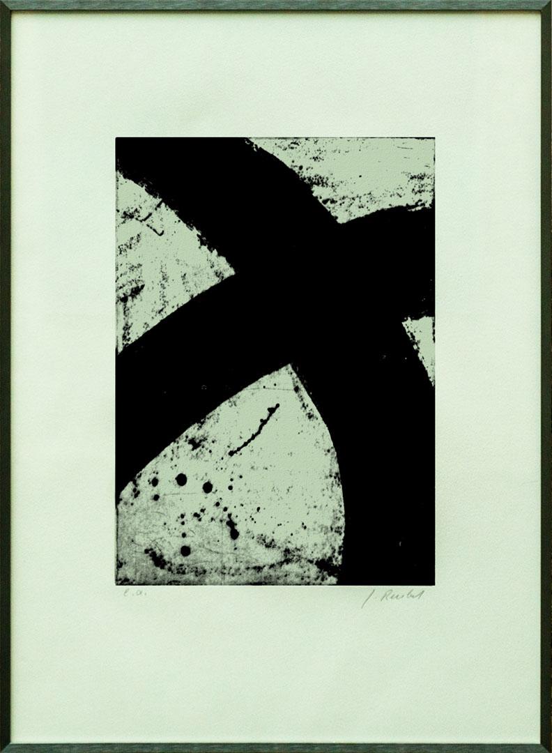 Gudrun Reubel: Kreissegmente II | Radierung; 70 x 50 cm; 400,00 €; ; 1944 geboren in Oberndorf;  freischaffende Künstlerin mit eigener Radierwerkstatt; zahlreiche Einzel- und Gruppenausstellungen; lebt in Fridolfing