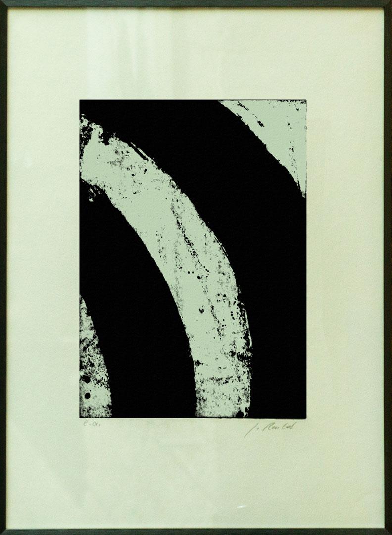 Gudrun Reubel: Kreissegmente III | Radierung; 70 x 50 cm; 400,00 € | ; 1944 geboren in Oberndorf;  freischaffende Künstlerin mit eigener Radierwerkstatt; zahlreiche Einzel- und Gruppenausstellungen; lebt in Fridolfing